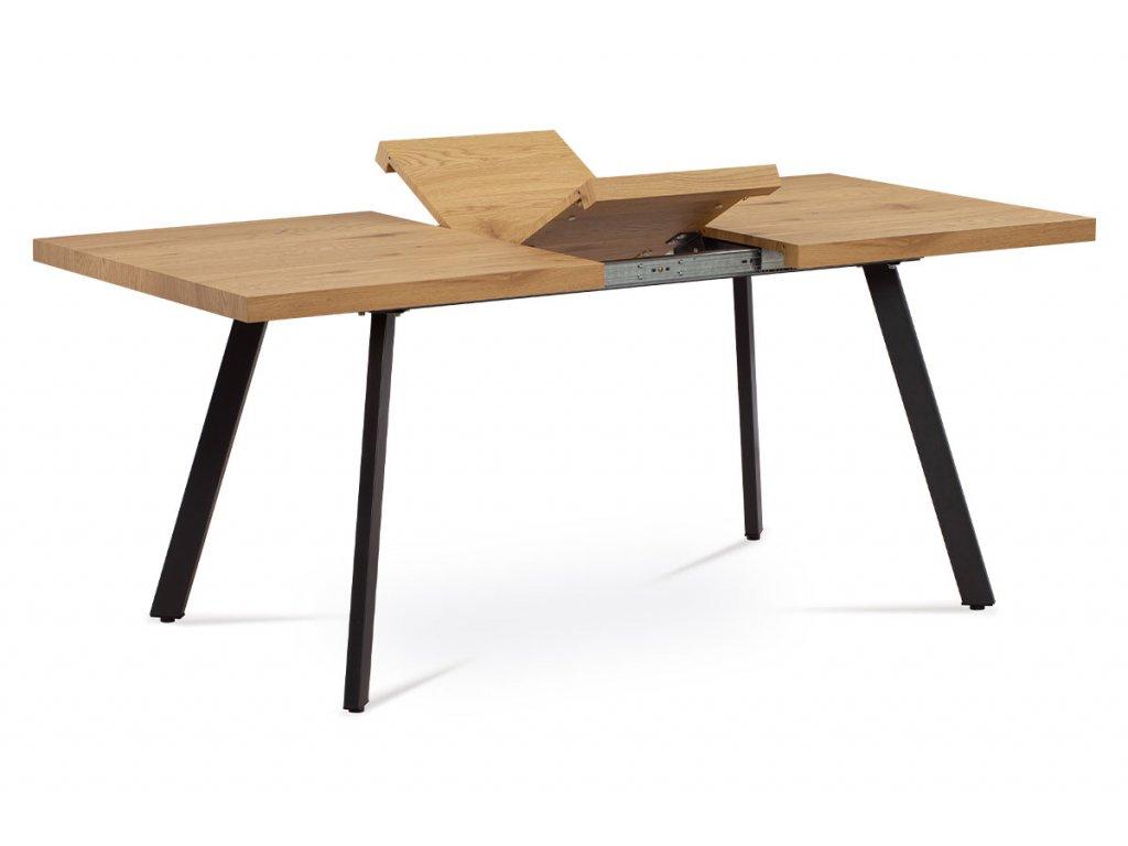 Jídelní stůl, dekor dub, nohy antracit AT-1120 OAK