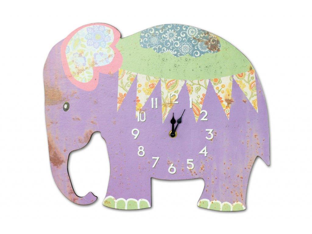 Hodiny nástěnné, tvar slon HA793463
