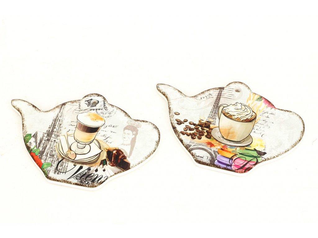 Kuchyňská podložka z keramiky a korku, sada 2 kusů KH-4127
