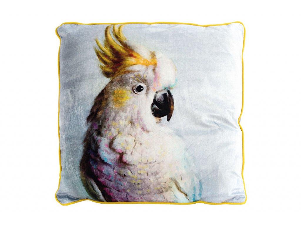 Polštář s výplní. Papoušek POL509