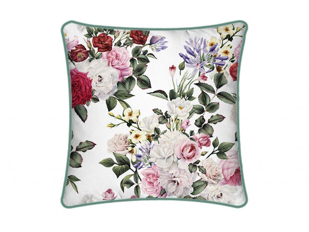 Polštář  s výplní. Květy design POL245