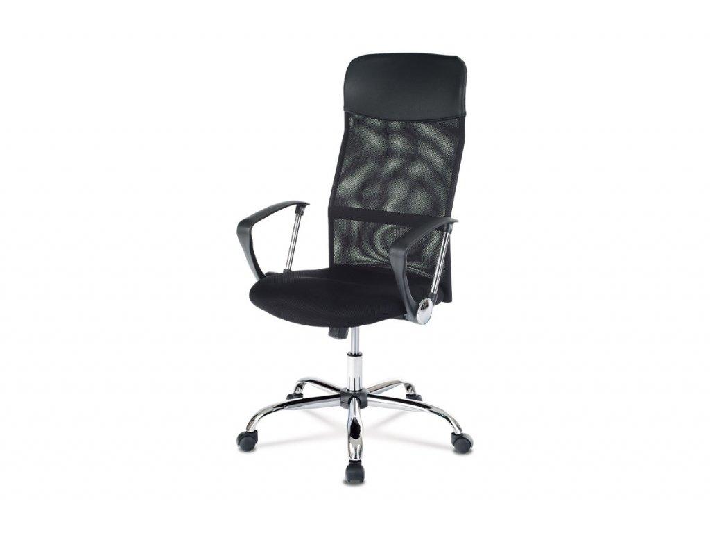Kancelářská židle, houpací mech., MESH a ekokůže, černá KA-E305 BK