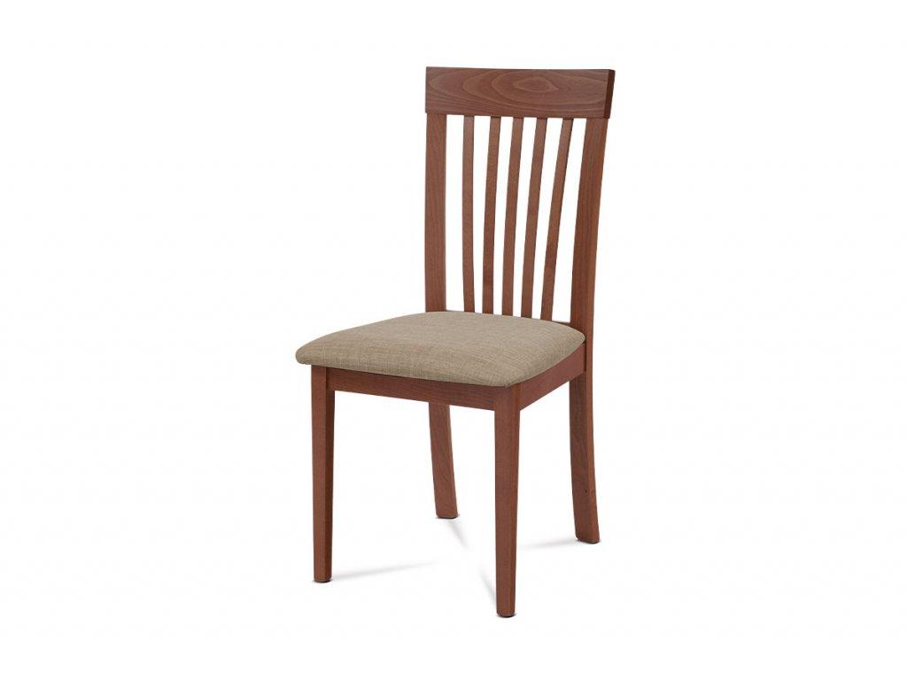 Jídelní židle, třešeň, potah krémový BC-3950 TR3