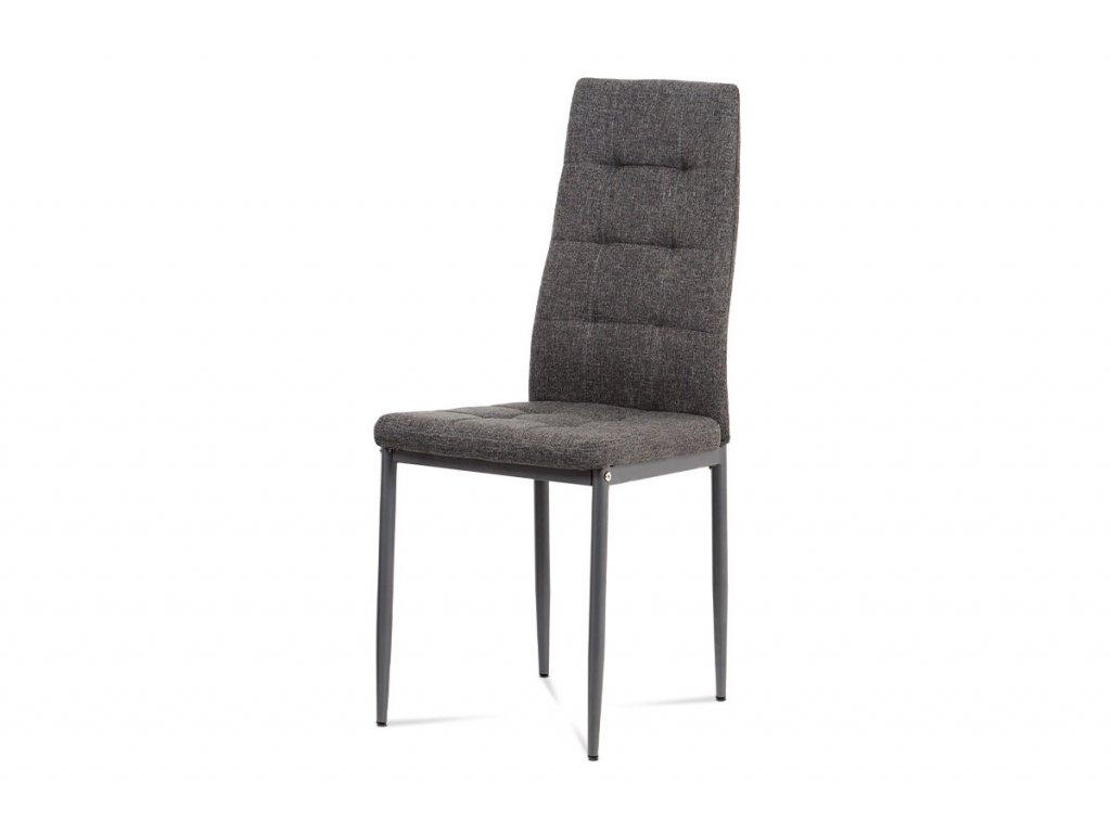 Jídelní židle, šedá látka, kov matný antracit DCL-397 GREY2