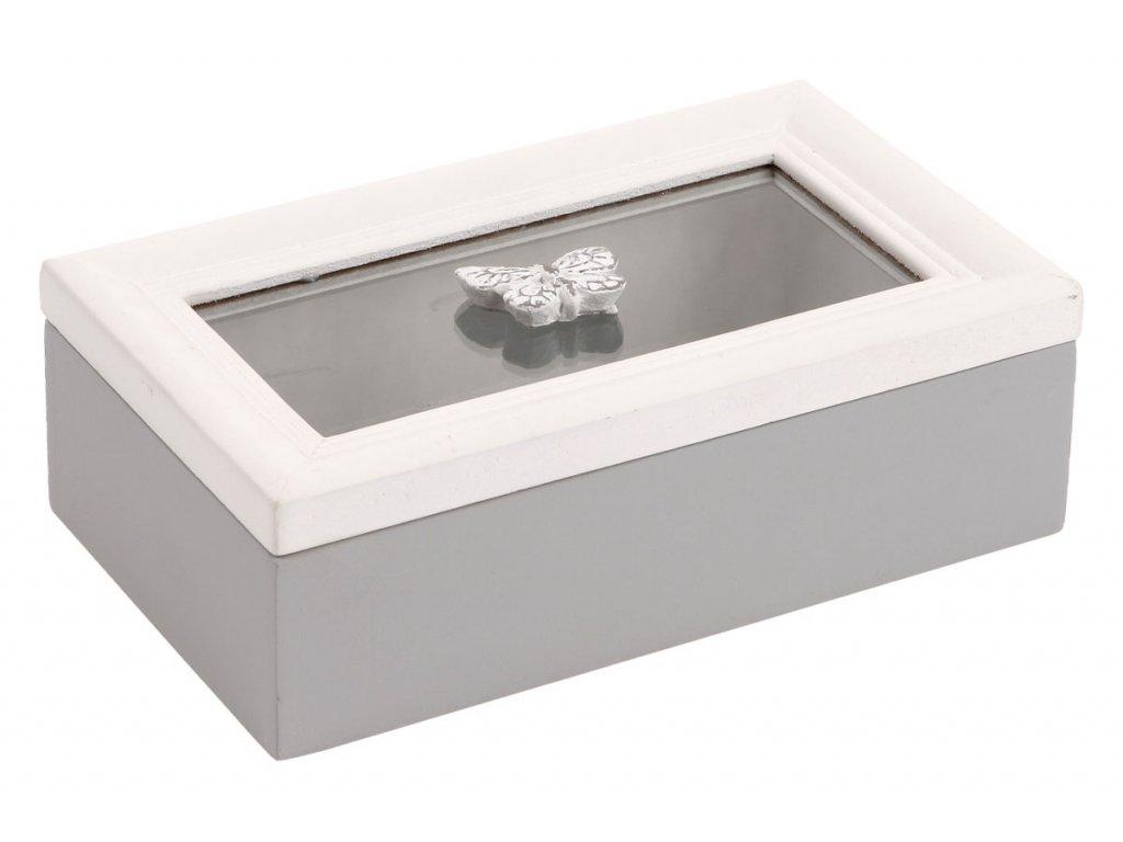 Krabička se sklem dřevěná ARD085 C