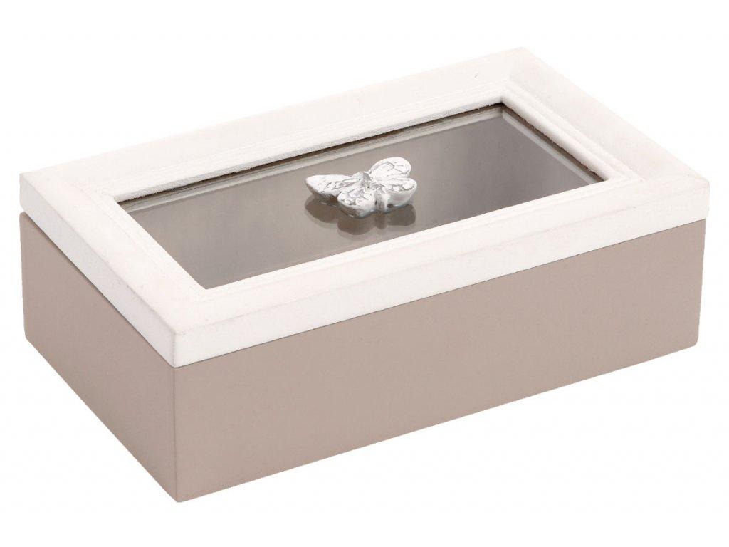 Krabička se sklem dřevěná ARD085 W