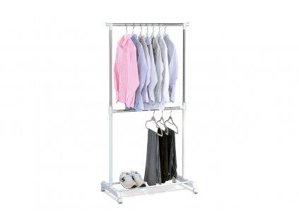 Stojan na šaty, bílý plast/chrom ABD-1213 WT