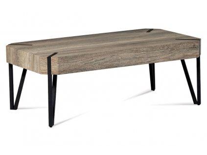 "Konferenční stolek 110x60x43, dub ""Canyon grey"", kov matná černá AHG-241 CAN"