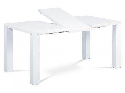 Jídelní stůl rozkládací 120+40x90 cm, vysoký lesk bílý AT-3009 WT