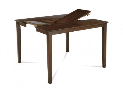 Jídelní stůl  rozkl. 136+45x91x75 cm, barva ořech AUB-200 WAL