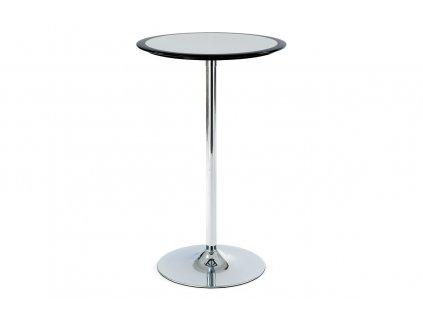 Barový stůl černo-stříbrný plast, pr. 60 cm AUB-6050 BK