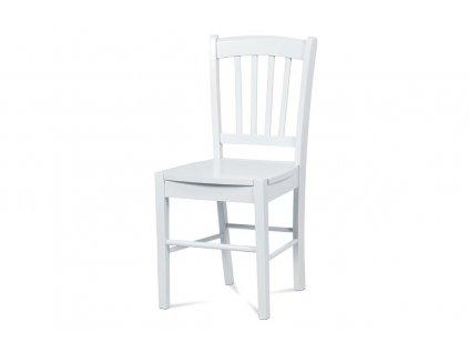 Jídelní židle celodřevěná, bílá AUC-005 WT