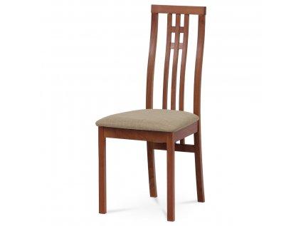 Jídelní židle masiv buk, barva třešeň, potah krémový BC-2482 TR3
