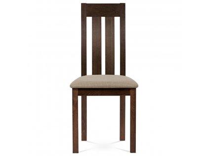Jídelní židle masiv buk, barva ořech, potah béžový BC-2602 WAL