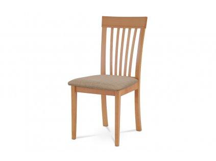 Jídelní židle, buk, potah béžový BC-3950 BUK3