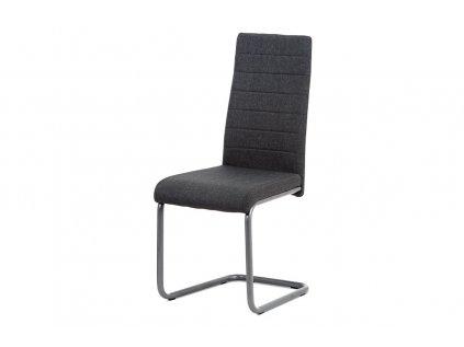 Jídelní židle, šedá látka, kov matný antracit DCL-400 GREY2