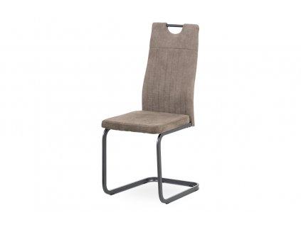 Jídelní židle, lanýžová látka, šedý kov mat DCL-462 LAN3