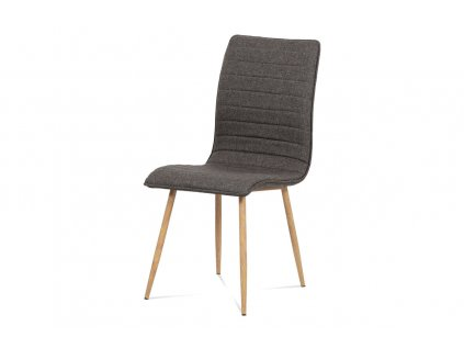 Jídelní židle coffee látka / kov (dekor dub) HC-368 COF2