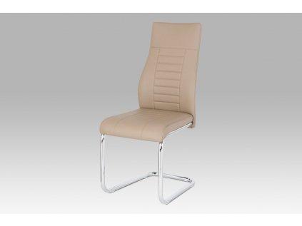 Jídelní židle, koženka cappuccino / chrom HC-955 CAP
