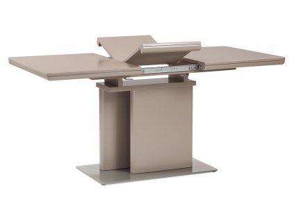 Jídelní stůl rozkládací 120+40x80 cm, vysoký lesk barva lanýž HT-655 LAN