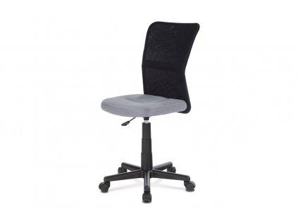 Kancelářská židle, šedá mesh, plastový kříž, síťovina černá KA-2325 GREY
