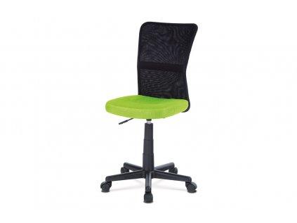 Kancelářská židle, zelená mesh, plastový kříž, síťovina černá KA-2325 GRN