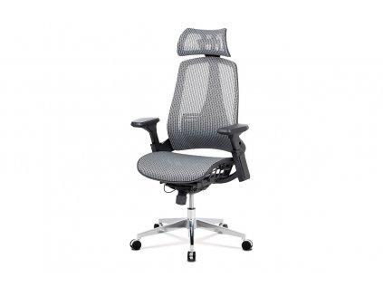 Kancelářská židle, šedá MESH síťovina, lankový mech., kovový kříž KA-A189 GREY