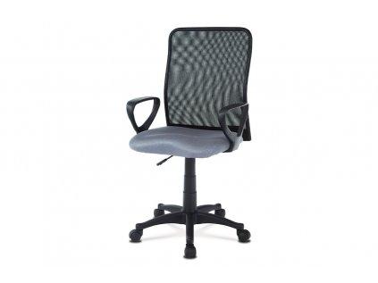 Kancelářská židle, látka MESH šedá / černá, plyn.píst KA-B047 GREY