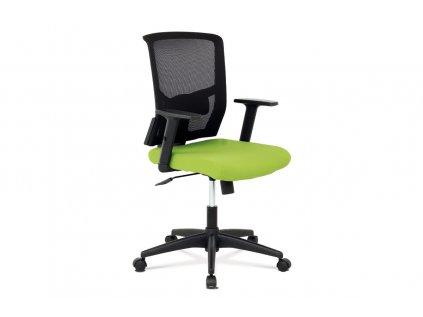 Kancelářská židle, látka zelená + černá, houpací mechnismus KA-B1012 GRN