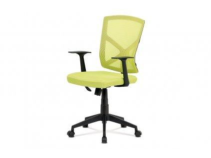Kancelářská židle, zelená MESH+síťovina, plastový kříž, houpací mechanismus KA-H102 GRN