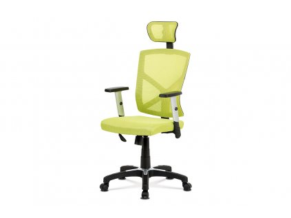 Kancelářská židle, zelená MESH+síťovina, plastový kříž, houpací mechanismus KA-H104 GRN