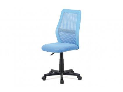 Kancelářská židle, modrá MESH + ekokůže, výšk. nast., kříž plast černý KA-V101 BLUE