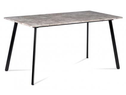 Jídelní stůl 150x80x76, MDF beton, kov matná černá MDT-2100 BET