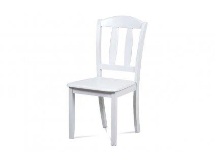 Jídelní židle celodřevěná, barva bílá SAVANA WT