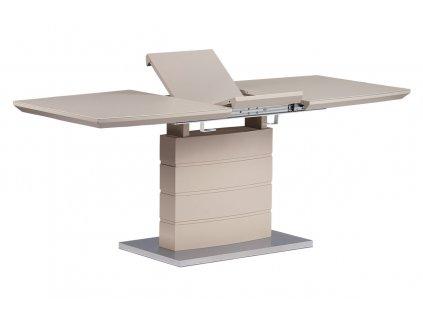 Rozkládací jídelní stůl 140+40x80x76 cm, cappuccino, vysoký lesk HT-440 CAP