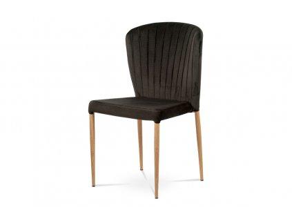 Jídelní židle čalouněná sametovou látkou, šedá CT-614 GREY4