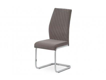 Jídelní židle čalouněná s dekorativním prošitím, lanýžová DCL442 LAN4
