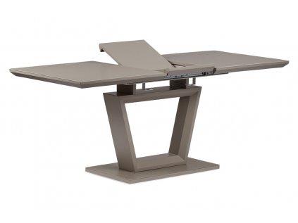Rozkládací jídelní stůl s designovou centrální podnoží, lanýž HT-466 LAN
