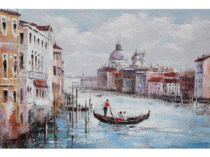 Obraz - Benátky, ruční olejomalba na plátně DOR046