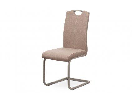 Jídelní čalouněná židle s lakovanou kovovou podnoží, krémová DCL-612 CRM2