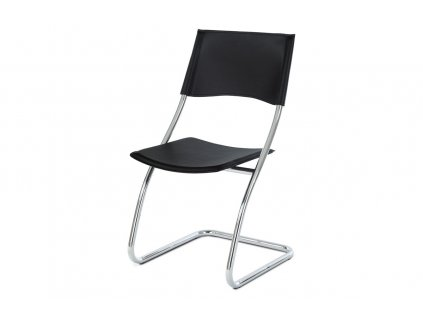 Židle chrom / černá koženka B161 BK