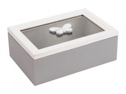 Krabička se sklem dřevěná ARD084 C