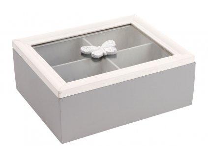 Krabička dřevěná na čajové sáčky ARD086 C
