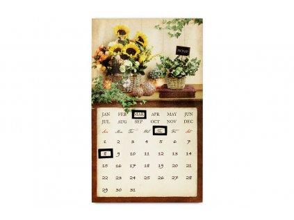Obraz nástěnná dekorace s kovovým kalendářem a magnety,  svítící - LED BD534