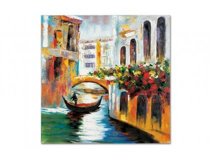 Obraz - Benátky, ruční olejomalba na plátně DOR042