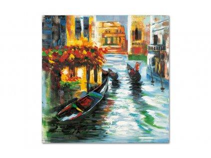 Obraz - Benátky, ruční olejomalba na plátně DOR043