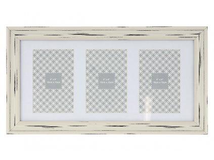 Fotorámeček plastový na 3 fotografie velikost 10x15 cm NB-3588