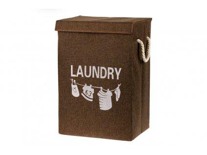 Koš na prádlo plátěný, barva hnědá DD3121