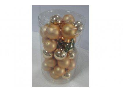 Dekorační skleněné ozdoby na drátku, zlaté VAK020-zlata2