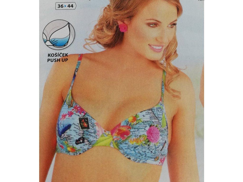 Litex 88194 plavky dámské podprsenka s košíčky Push Up velikost 40